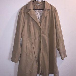 Torrid Khaki Trench Coat Size 3